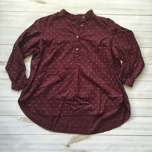 Madewell shirred popover shirt in microdot